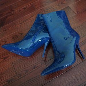 Calvin Klein Navy Blue Ankle Boot Heels